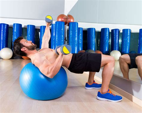 exercise ball bench press watchfit forget the bench use a swiss ball bench