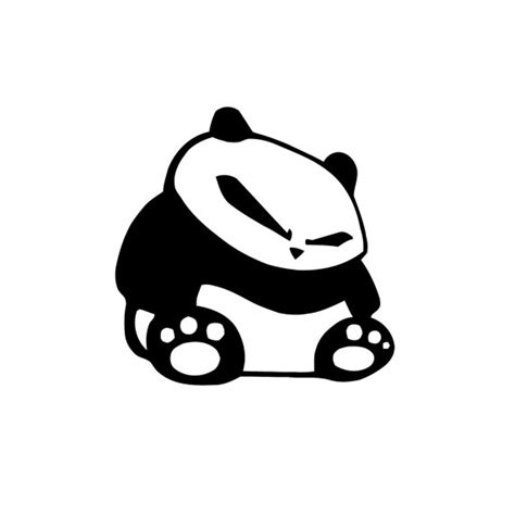 jdm panda sticker jdm panda decal any color any size panda sticker panda