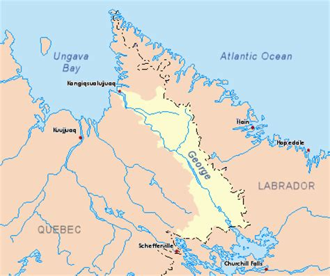 map of major rivers in canada file george map png wikimedia commons