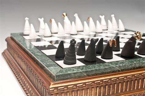 ceramic chess set handmade porcelain chess set by kina ceramics