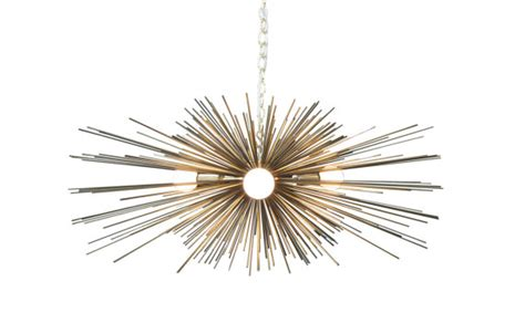 Urchin Chandelier 3 Bulb Gold Urchin Chandelier By Duttonbrown On Etsy