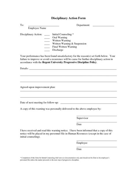 employee write up form templates word excel sles