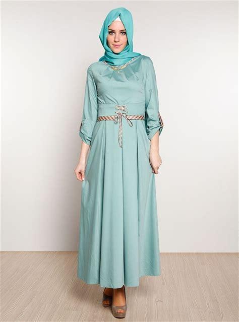 Baju Gamis Lebaran Bahan Sifon 22 koleksi model baju gamis terbaru tahun ini style remaja
