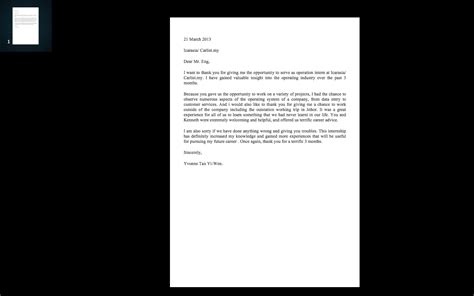 thank you letter to supervising sle thank you letter to supervisor internship report