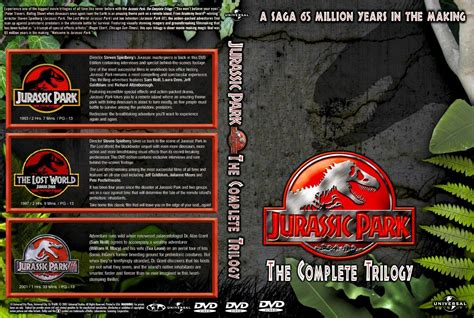Original Jurassic Park Ultimate Trilogy jurassic park the complete trilogy dvd custom covers jurassic park the complete