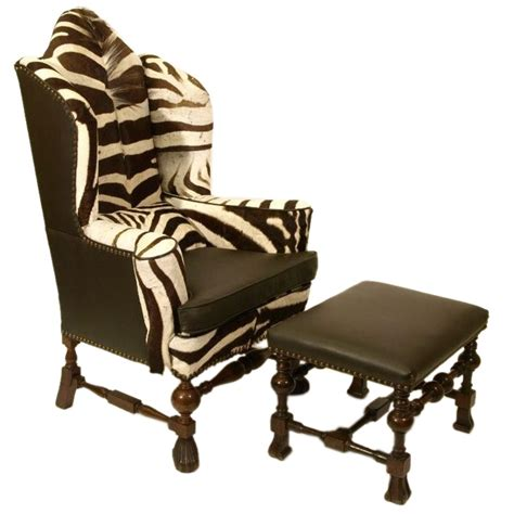 zebra chair and ottoman inspired by the british empire colonial inspired house