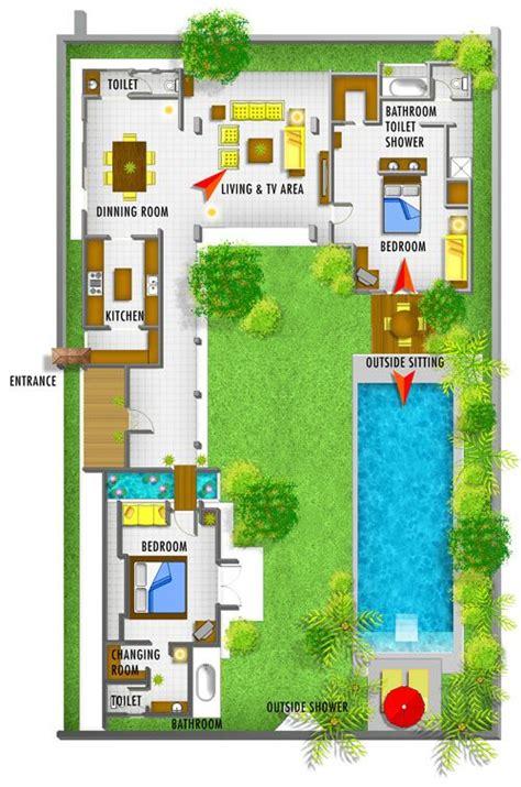 bali villa layout plan 25 best ideas about plan de villa on pinterest plan 3d