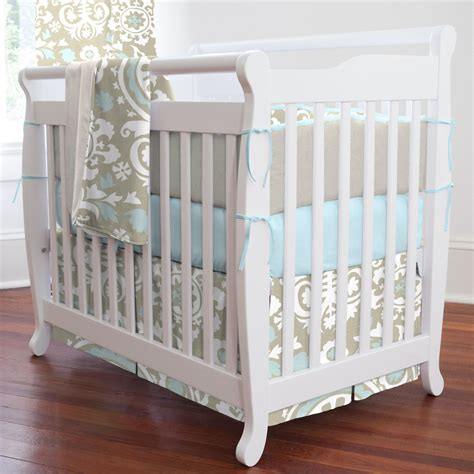 Taupe Suzani Portable Crib Bedding Carousel Designs Baby Mini Crib Bedding