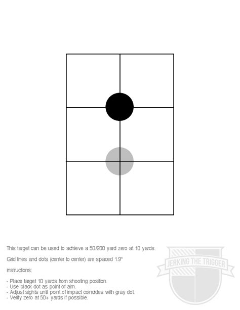 printable targets ar15 what distance do you sight in your aimpoint pro page 2