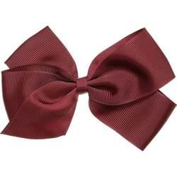 ribbon hair clip ribbons burgundy grosgrain bow hair clip 12cm childrensalon