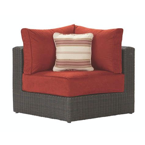 outdoor sectional cushions home decorators collection naples all weather brown wicker