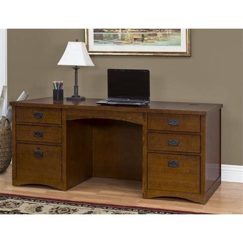 martin furniture mission pasadena pedestal desk