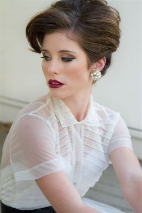 Vintage Bridal Hair Course by An Vintage 50 S Style Wedding The Wedding