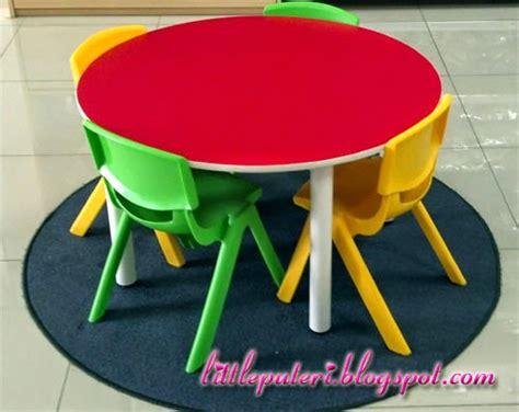 Meja Belajar Tadika perabot tadika set meja bulat kerusi kanak kanak untuk