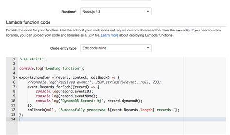 aws lambda tutorial node js aws lambda solved aws lambda exports class works in