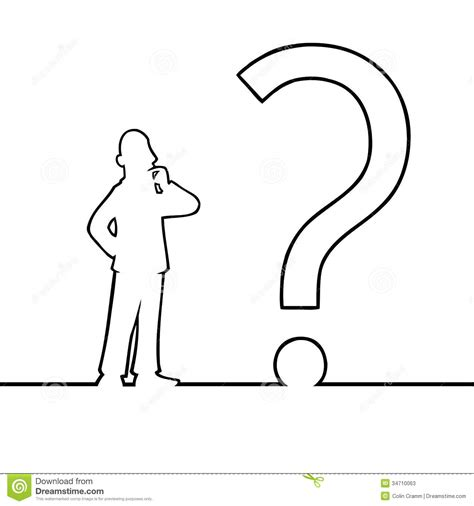 illustrator draw question mark man with big question mark stock photos image 34710063