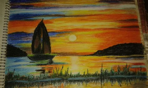 Painting With Pastels pastels paintings sunset www imgkid the image