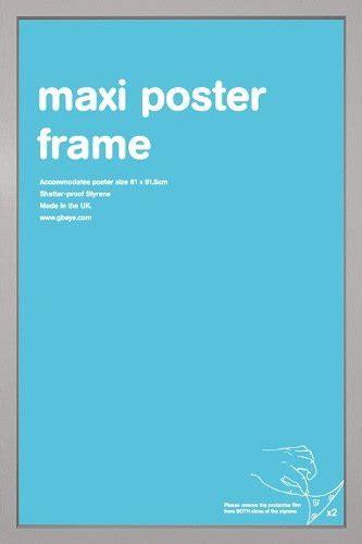 cornici 61x91 gb eye ltd cornice per maxi poster 61 x 91 5 cm argento