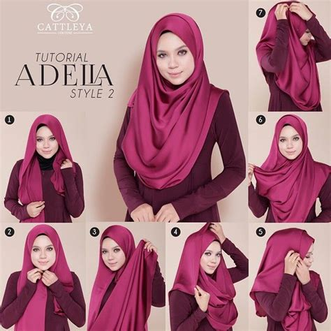 tutorial hijab pashmina satin casual silk hijabs are so elegant and spruce up any outfit to