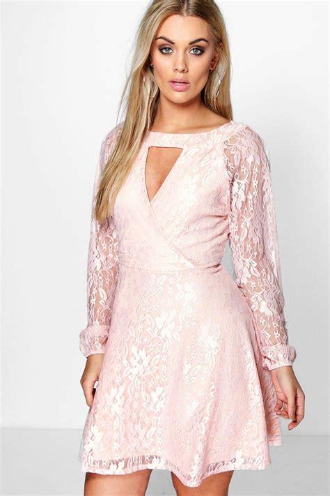 Emily Lace Dress boohoo womens plus emily lace skater dress ebay
