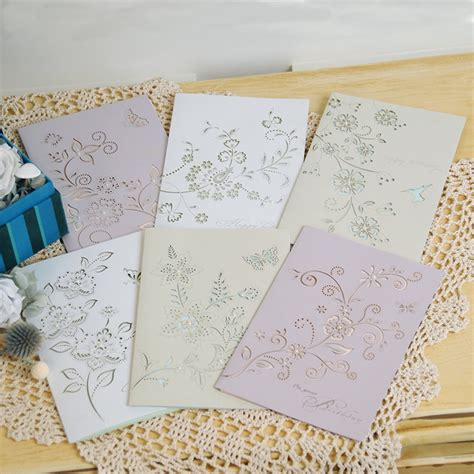 Handmade Sheet Greeting Cards - eno sale blank pearl handmade greeting card