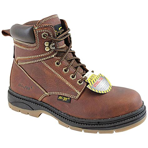 s 6 quot ad tec 174 steel toe work boots reddish brown