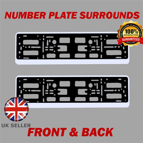 mazda number 2x number plate surrounds abs holder silver for mazda rx 8