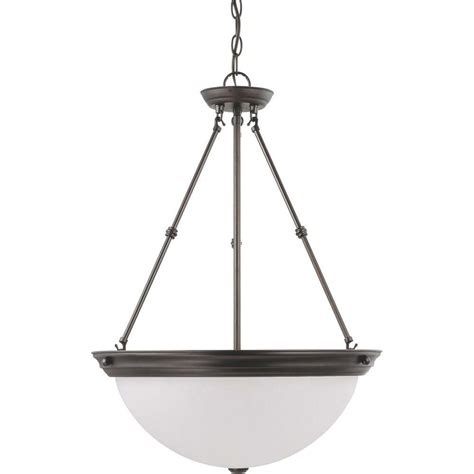 Glomar 3 Light Mahogany Bronze Vanity Light With Chagne Linen Washed Glass Hd 1265 The Home Glomar 3 Light Mahogany Bronze Pendant With Frosted White Glass Hd 3153 The Home Depot