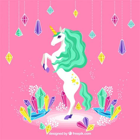 fondo de unicornio feliz brillante descargar vectores gratis unicornio y diamantes coloridos descargar vectores gratis