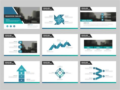 powerpoint templates urban design blue green abstract presentation templates infographic