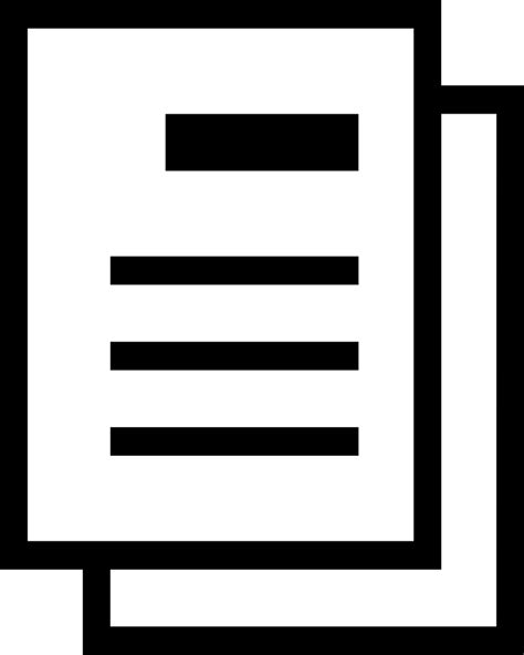 template document svg png icon