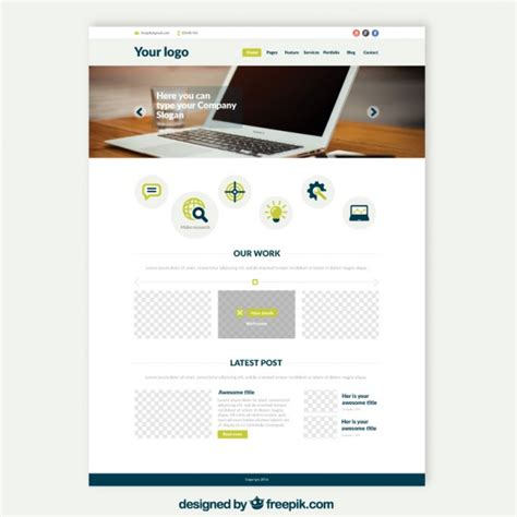 web software free for laptop laptop website template vector free