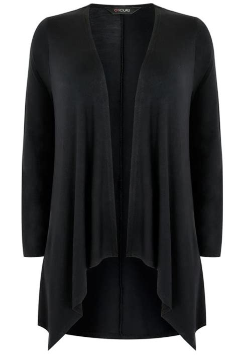 New Arrival Original Icon Wringkle Casual Lace Black black edge to edge waterfall jersey cardigan plus size 16