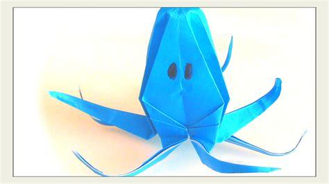 Origami Octopus - folding an origami octopus curious