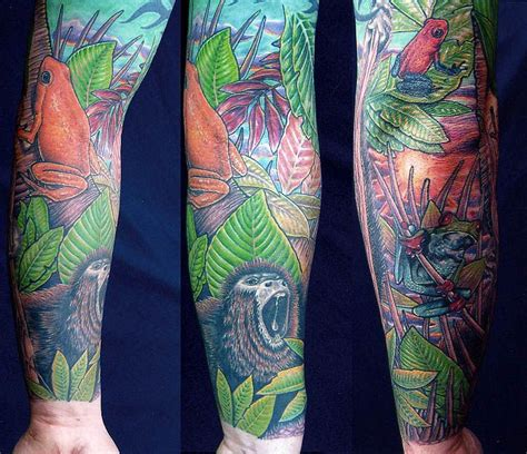 tattoo jungle scenery tattoos looking for unique nature animal frog