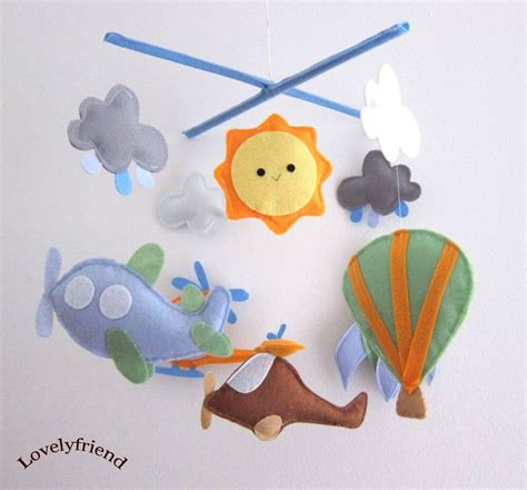 Handmade Nursery Mobile - baby mobile air balloon crib mobile quot flying