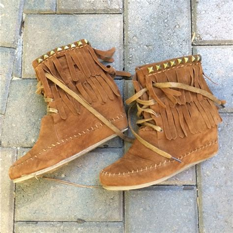 60 bamboo boots wedge moccasin boots from