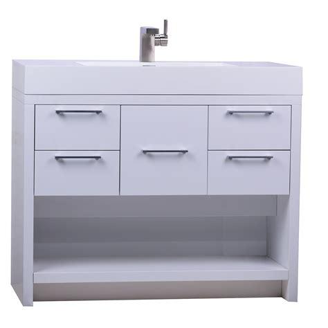 high bathroom vanity lodi 40 inch modern bathroom vanity high gloss whtie