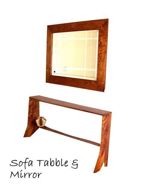 sofa mirror hand crafted sofa table and mirror by ko no designs