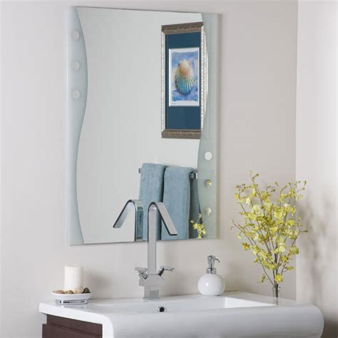 fabulous modern frameless bathroom mirror dcg stores