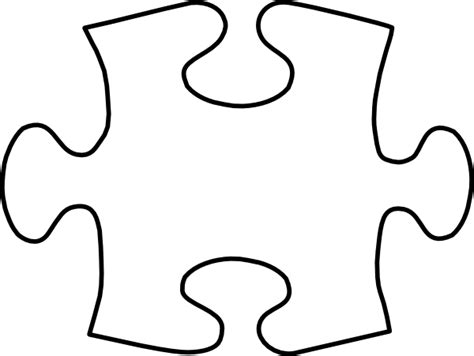 printable big puzzle pieces giant puzzle piece template large blank puzzle pieces