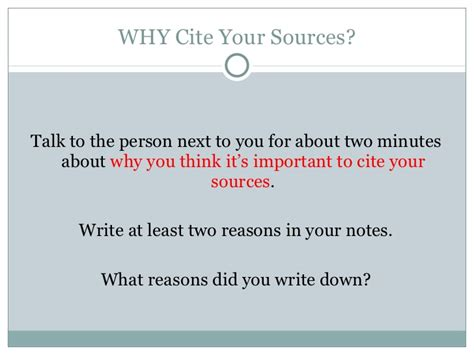 how do you cite your sources in a research paper cite your sources why and how