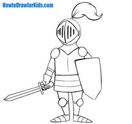 how to draw a knight for kids howtodrawforkids com