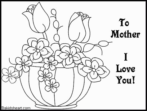 free coloring pages of mother of birthday