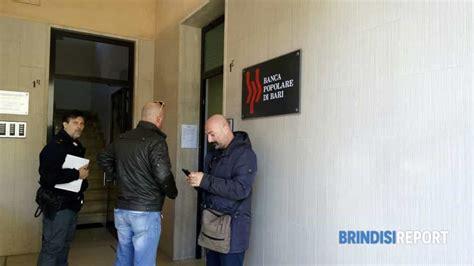 banca popolare pugliese brindisi assalto armato a guardia giurata mentre va in banca a