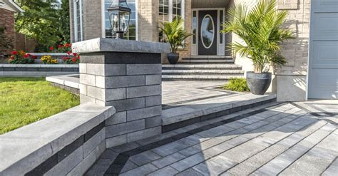 Unilock Steps Installation Lineo Dimensional Walls By Nicolock In Ct Call 203 287