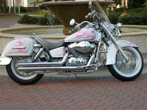 Motorrad Honda Pink by 2007 Wht Pink Flames Honda Shadow 750 Aero By Jehg1968
