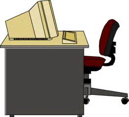 Desk Chair Clipart Computer Desk Clip At Clker Vector Clip