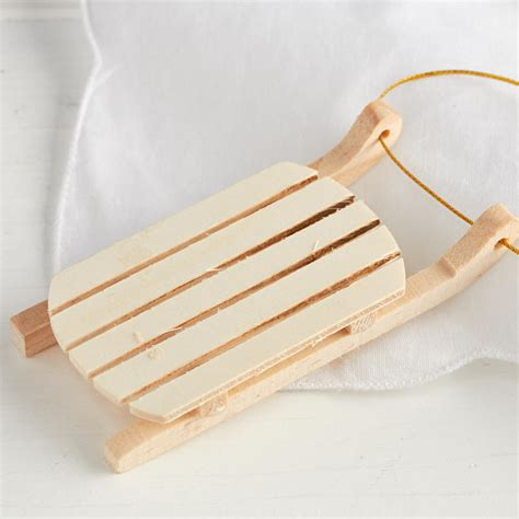 woodwork craft supplies unfinished wood vintage sled ornament wood cutouts