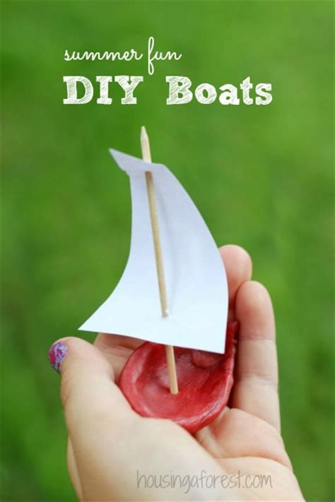 little boats for kids easy craft for kids wax boats housing a forest